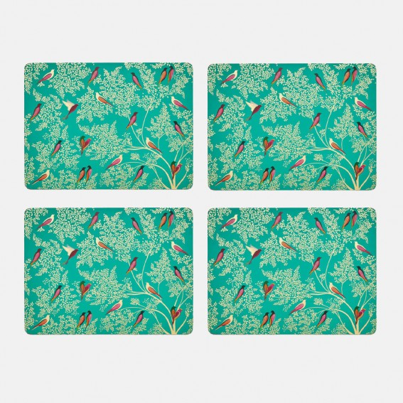 Green Birds Placemats - Set of 4