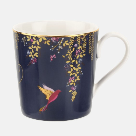 Navy Hummingbird Mug