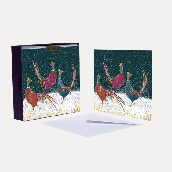 Three Pheasants Christmas Card