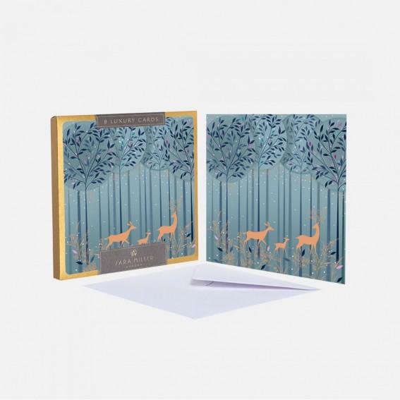 Luxury Magical Deer Christmas Card - Box of 8