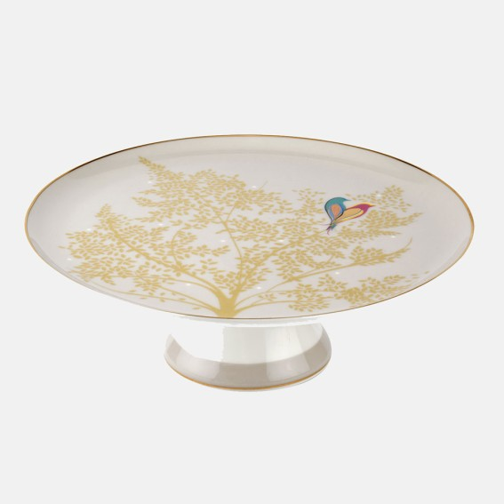 Pale Grey Lovebird Cake Stand