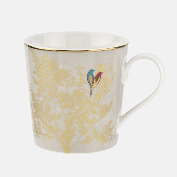 Pale Grey Lovebirds Mug