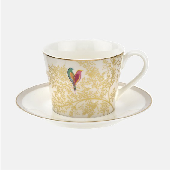Pale Grey Lovebirds Teacup