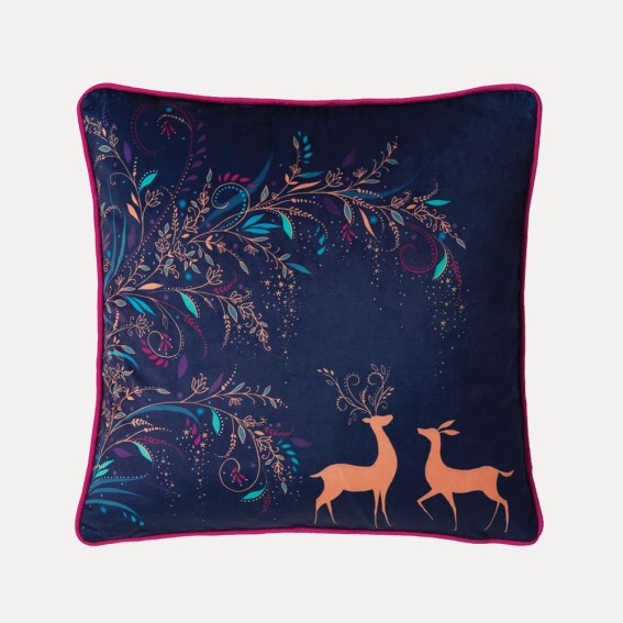 Magical Deer Feather Filled Cushion