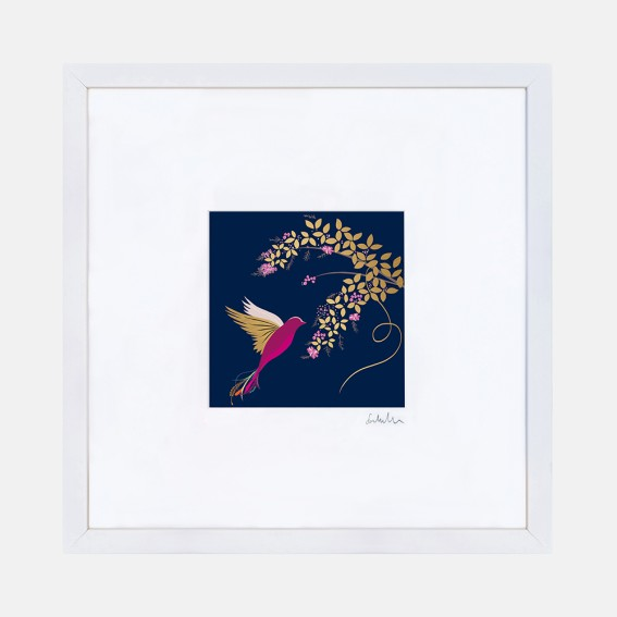 Navy Hummingbird Wall Art