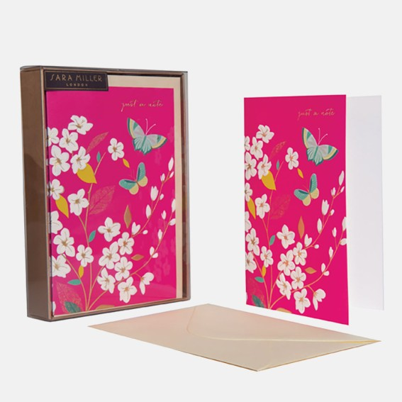 Blossom 'Just a Note' Notecard - Set of 10 Cards