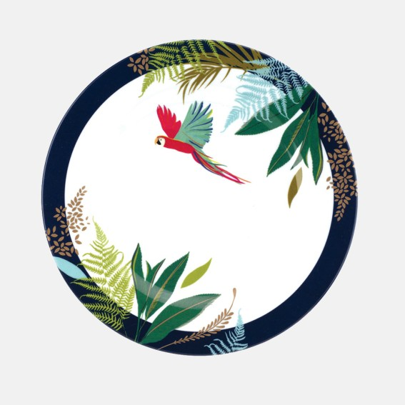 Parrot Melamine Side Plates - Set of 4