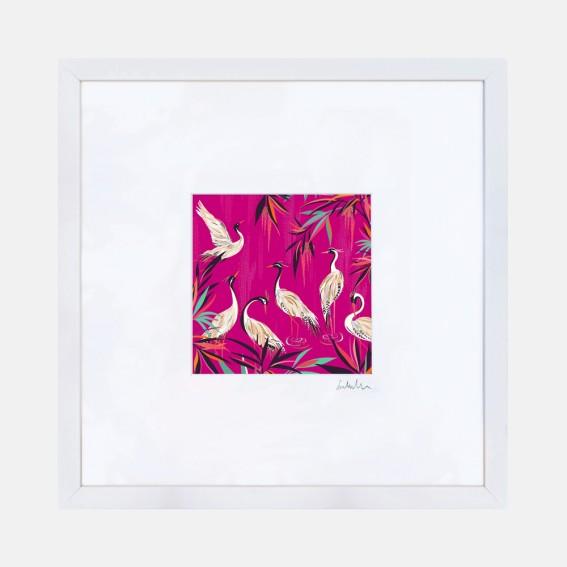 Pink Herons Wall Art