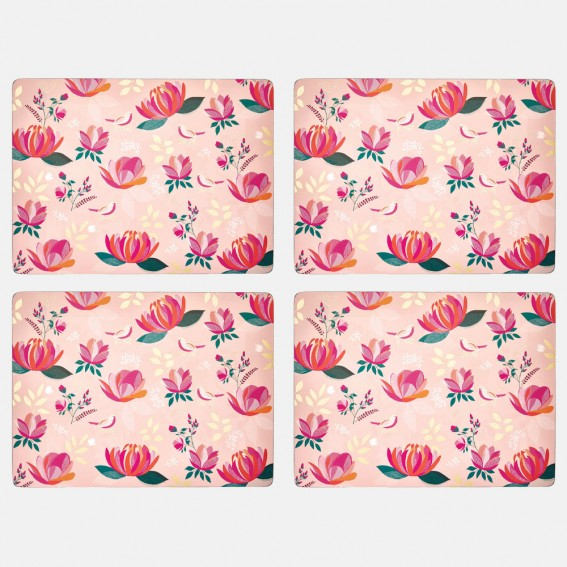 Pink Peony Large Placemats - Set of 4