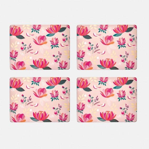 Pink Peony Placemats - Set of 4
