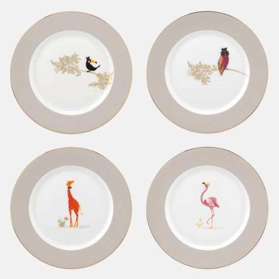 Piccadilly Cake plates - Assorted Set of 4