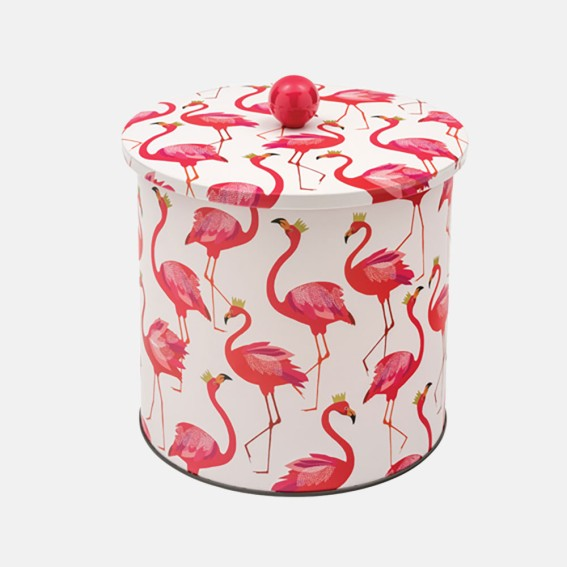 Flamingo Biscuit Barrel