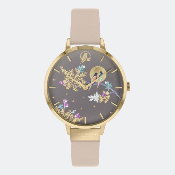 Birds in Moon Cream Watch