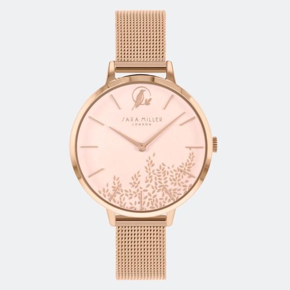 Leaf Gold Mesh Watch