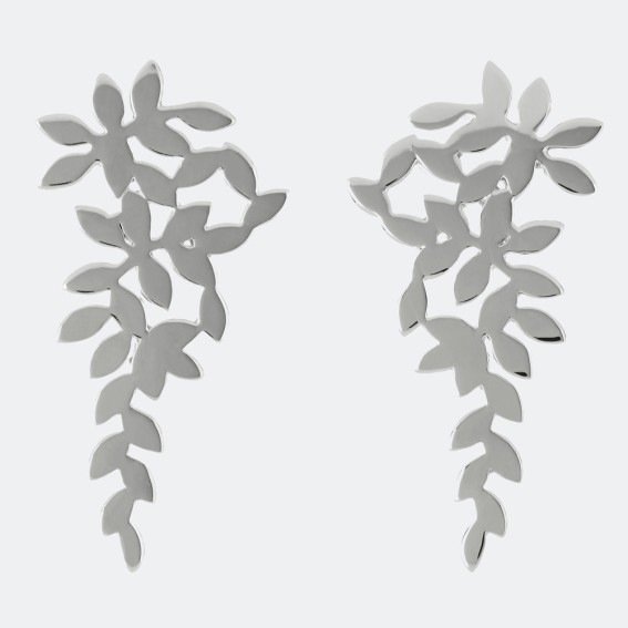 Falling leaf cluster earrings