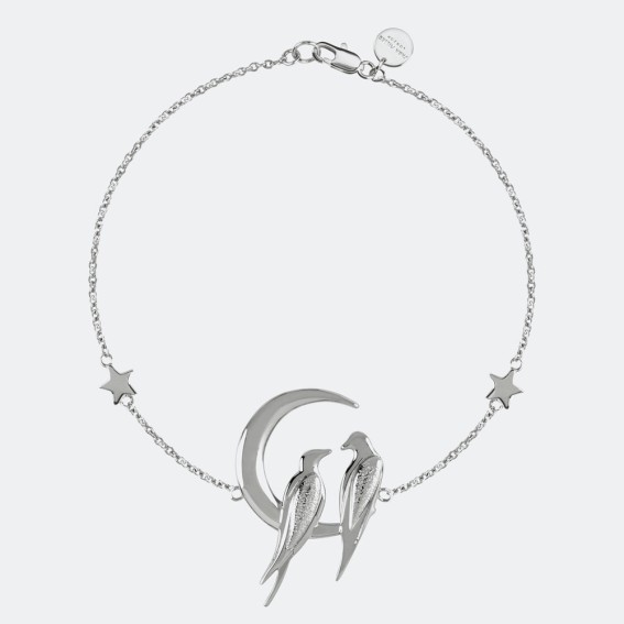 Lovebird Silver Charm Bracelet