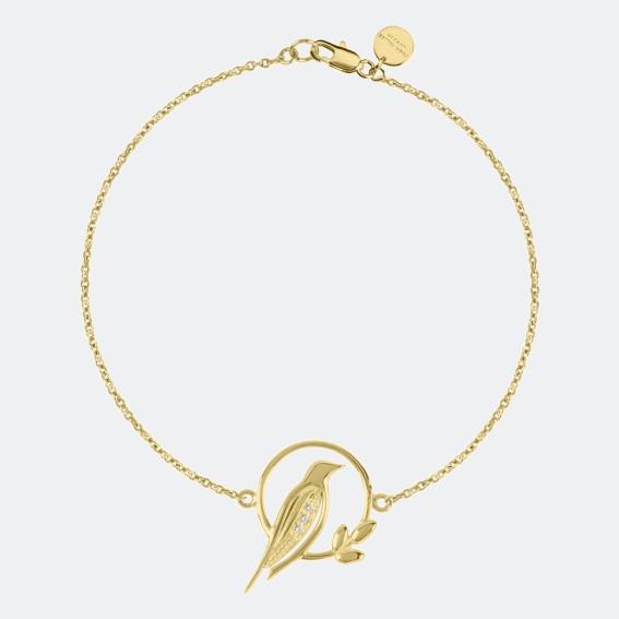 Bird Charm Gold Bracelet