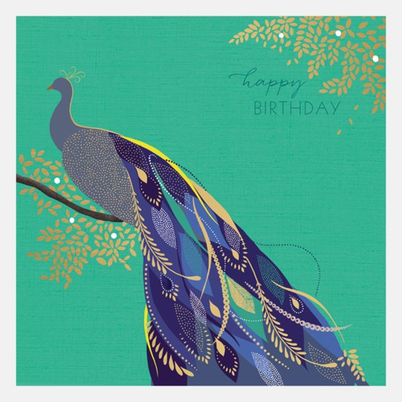 Happy Birthday Peacock Card