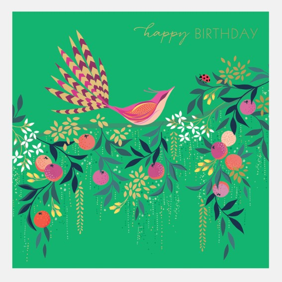 Orchard Bird in Tree Card