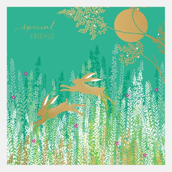 Special Friend Rabbits Card