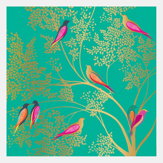 Green Birds Card