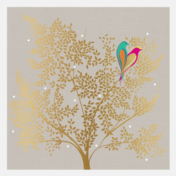Lovebirds in Tree Card