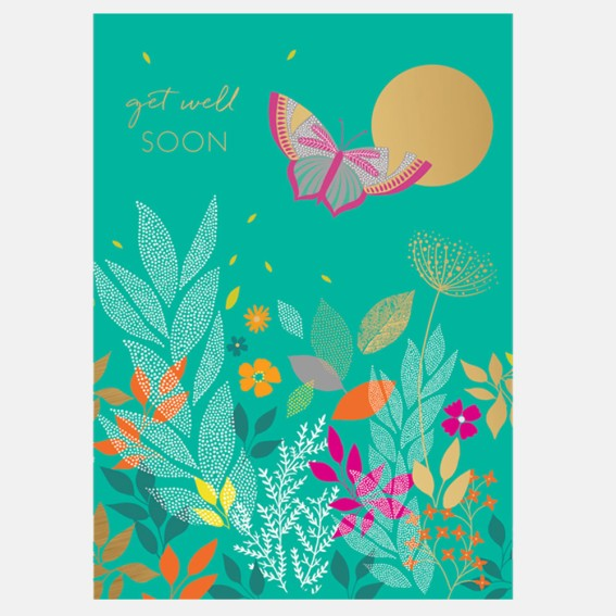 Get Well Butterfly Card