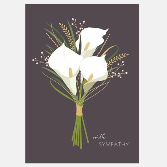 Sympathy Lilies Card