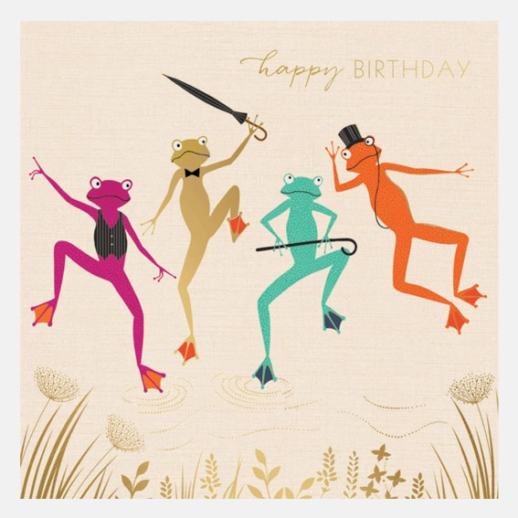 Happy Birthday Dancing Frogs