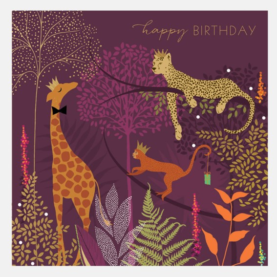Happy Birthday Jungle Card