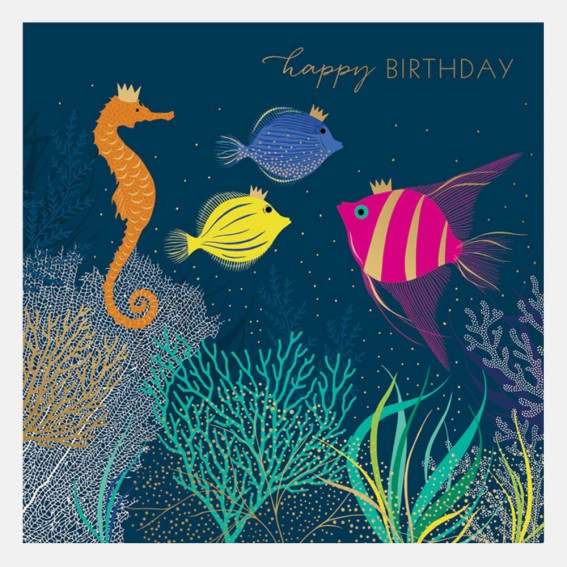Happy Birthday Tropical Fish Card