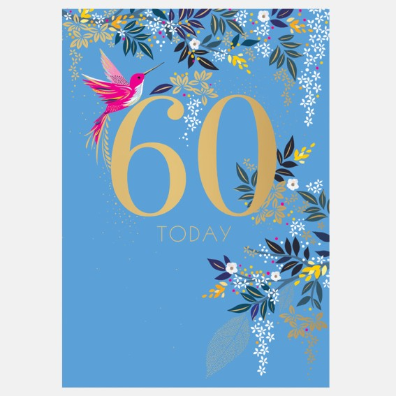 Hummingbird 60th Birthday Card