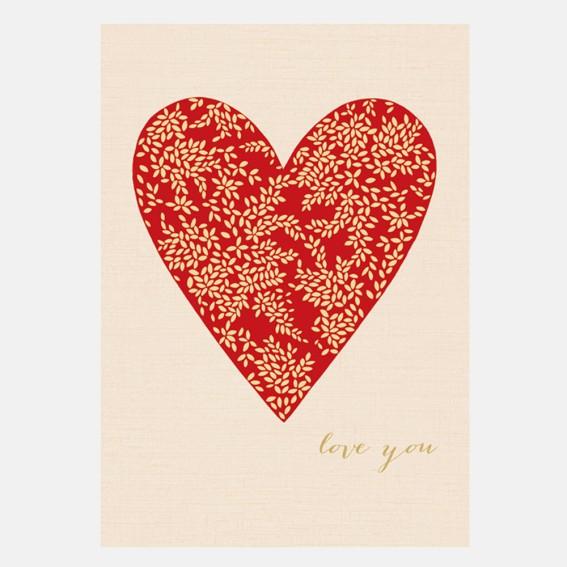 In My Heart Valentine Card