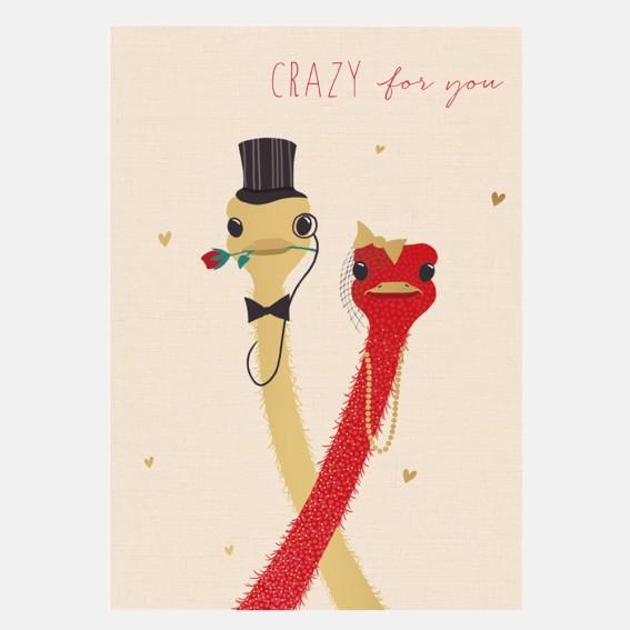 Crazy For You Valentine Card