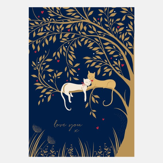 Love You Like Catnip Valentine Card