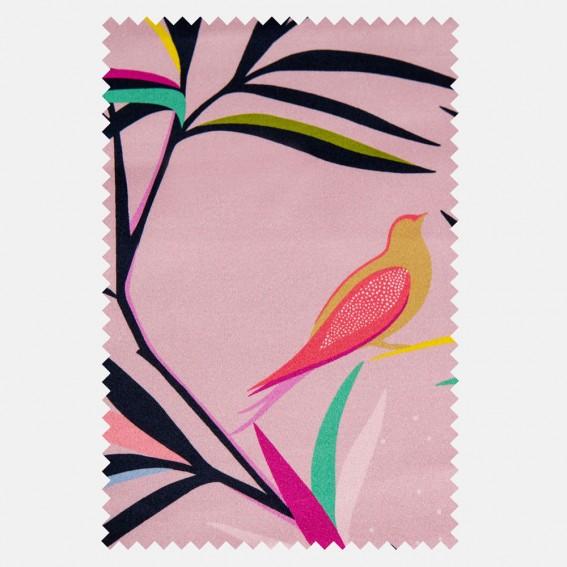 Bamboo Soft Pink Velvet Fabric SAMPLE