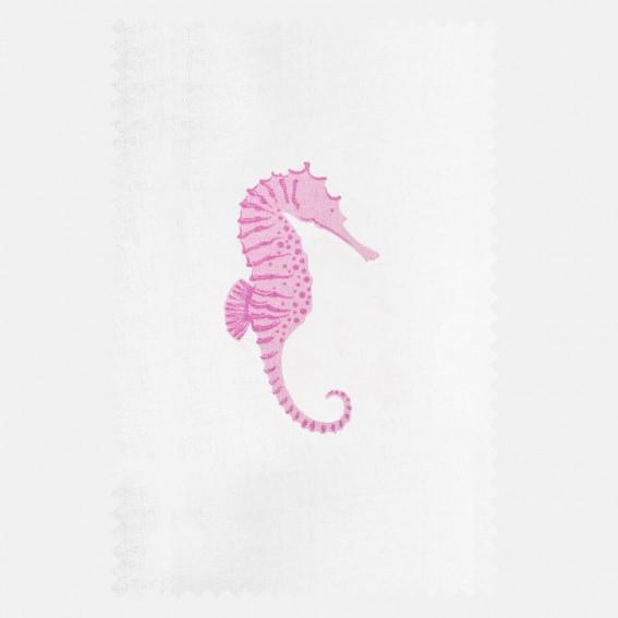 Seahorse Mauve Sateen Fabric SAMPLE