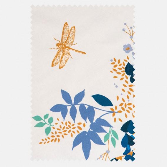 Wisteria White Sateen Fabric SAMPLE