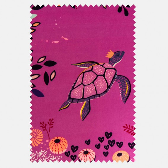 Underwater Mauve Velvet Fabric SAMPLE