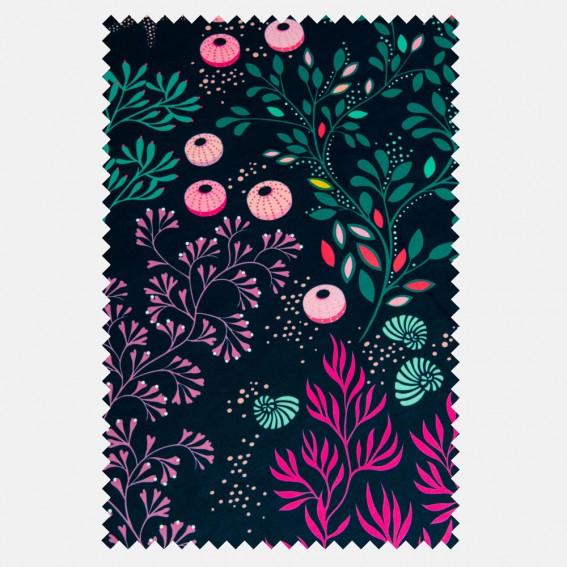 Underwater Midnight Velvet Fabric SAMPLE