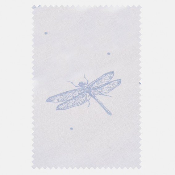 Dragonfly White Sateen Fabric SAMPLE