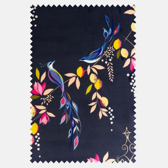 Bird & Gate Deep Navy Velvet Fabric SAMPLE