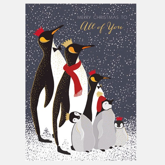 To All of You Penguins Christmas Card