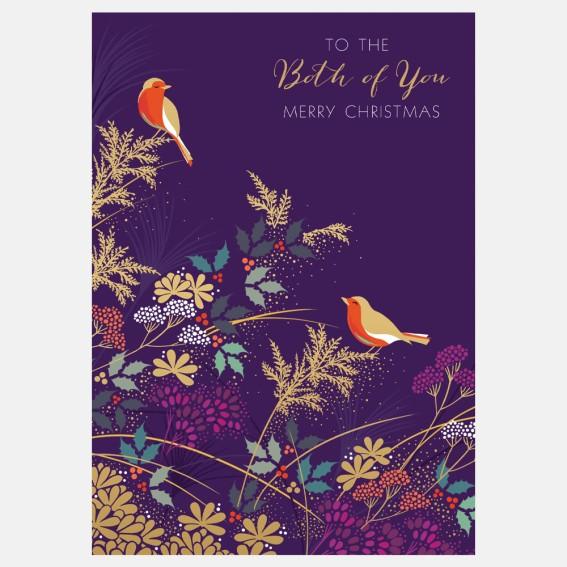 Robins Both Of You Christmas Card