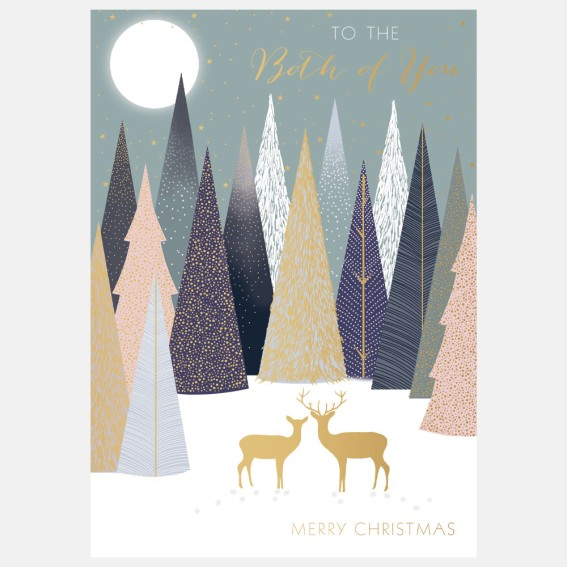 Deer In Forest Both Of You Christmas Card