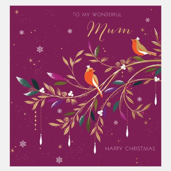 Robin Mum Christmas Card