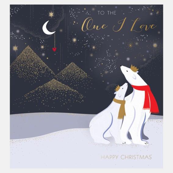 Polar Bear One I Love Christmas Card