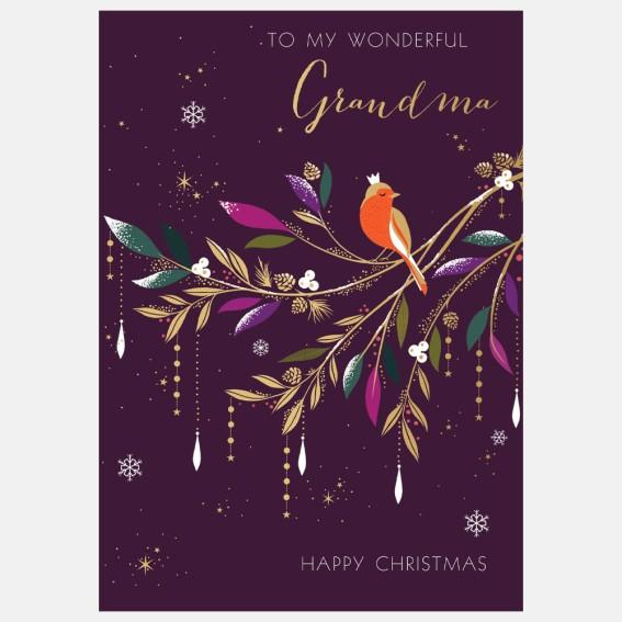 Robin Grandma Christmas Card