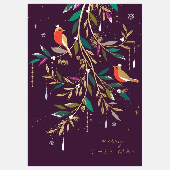 Two Robins Christmas Card