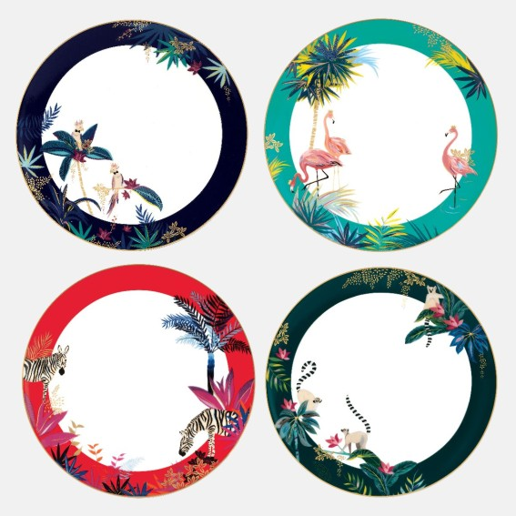 Tahiti Dinner Plate - Assorted Set of 4